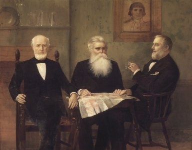 Edwin Howland Blashfield (American, 1848-1936). <em>The Governor's Grandsons</em>, 1894. Oil on canvas, 67 x 84 3/4 in. (170.2 x 215.2 cm). Brooklyn Museum, Gift of Theodora Wilbour, 35.1861 (Photo: Brooklyn Museum, 35.1861.jpg)