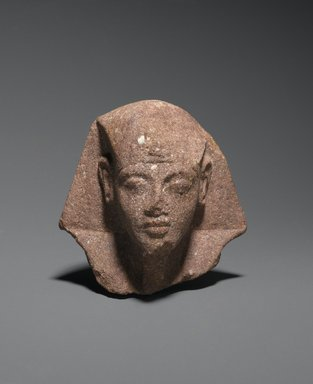 <em>Head from a Shabty of King Akhenaten</em>, ca. 1352-1336 B.C.E. Quartzite, 3 3/8 x 3 11/16 x 2 7/8 in. (8.6 x 9.3 x 7.3 cm). Brooklyn Museum, Charles Edwin Wilbour Fund, 35.1867. Creative Commons-BY (Photo: Brooklyn Museum, 35.1867_PS2.jpg)