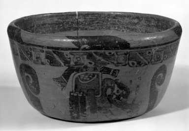 Maya. <em>Small Bowl</em>. Ceramic, pigment, 3 3/4 x 5 1/2 x 5 1/2 in. (9.5 x 14 x 14 cm). Brooklyn Museum, A. Augustus Healy Fund, 35.1898. Creative Commons-BY (Photo: Brooklyn Museum, 35.1898_bw.jpg)