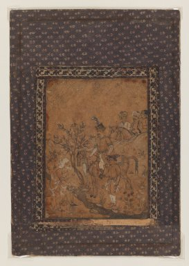 <em>Brush Drawing</em>, 18th-19th century. Ink, watercolor, gold paint, 26 5/8 x 18 3/8 in. (67.6 x 46.7 cm). Brooklyn Museum, Brooklyn Museum Collection, 35.2027 (Photo: Brooklyn Museum, 35.2027_IMLS_PS3.jpg)