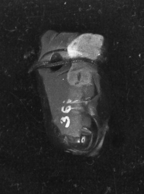 <em>Pendant</em>. Jade Brooklyn Museum, Alfred W. Jenkins Fund, 35.570. Creative Commons-BY (Photo: Brooklyn Museum, 35.570_acetate_bw.jpg)
