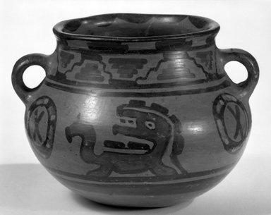 Maya. <em>Bowl</em>. Ceramic, pigment, 4 3/4 x 6 1/2 x 5 3/4 in. (12.1 x 16.5 x 14.6 cm). Brooklyn Museum, A. Augustus Healy Fund, 35.647. Creative Commons-BY (Photo: Brooklyn Museum, 35.647_view1_bw.jpg)