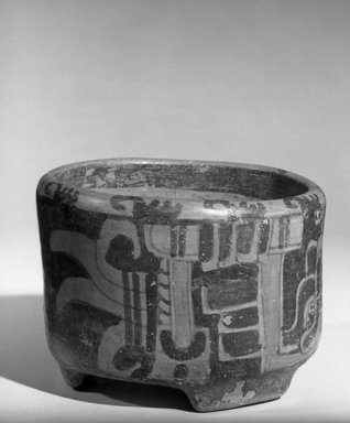 Maya. <em>Bowl</em>. Ceramic, pigment, 3 15/16 x 5 5/16 x 5 5/16 in. (10 x 13.5 x 13.5 cm). Brooklyn Museum, A. Augustus Healy Fund, 35.656. Creative Commons-BY (Photo: Brooklyn Museum, 35.656_acetate_bw.jpg)