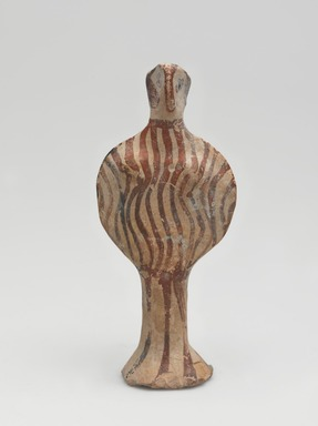 Mycenaean. <em>Female Figure</em>, ca. 1420-1190 B.C.E. Clay, pigment, 4 1/8 x 1 13/16 x 1 1/4 in. (10.5 x 4.6 x 3.1 cm). Brooklyn Museum, Charles Edwin Wilbour Fund, 35.742. Creative Commons-BY (Photo: , 35.742_front_PS11.jpg)