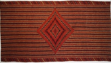 Saltillo. <em>Serape</em>, 19th century. Wool, cotton, 90 x 49 1/2in. (228.6 x 125.7cm). Brooklyn Museum, A. Augustus Healy Fund, 36.148. Creative Commons-BY (Photo: Brooklyn Museum, 36.148.jpg)