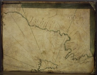 Greek. <em>Map: The Central Mediterranean and All of Italy</em>, mid-16th century. Parchment, Sheet: 7 7/8 x 12 in. (20 x 30.5 cm). Brooklyn Museum, Frank L. Babbott Fund and Henry L. Batterman Fund, 36.203.4 (Photo: Brooklyn Museum, 36.203.4_Left.jpg)