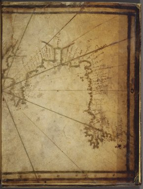 Greek. <em>Map: The Coast of France and Holland, and the British Isles</em>, mid-16th century. Parchment, Sheet: 7 7/8 x 12 in. (20 x 30.5 cm). Brooklyn Museum, Frank L. Babbott Fund and Henry L. Batterman Fund, 36.203.7 (Photo: Brooklyn Museum, 36.203.7_right_cropped_SL1.jpg)