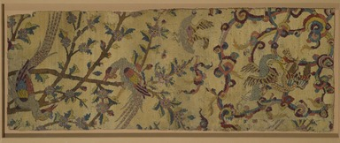 "<em>""Angel"" Carpet Fragment</em>, early 16th century. Wool and silk pile, asymmetrical knot, 39 3/4 x 15 in. (101 x 38.1 cm). Brooklyn Museum, Gift of Herbert L. Pratt in memory of his wife, Florence Gibb Pratt, 36.213a. Creative Commons-BY (Photo: Brooklyn Museum, 36.213a_PS2.jpg)"