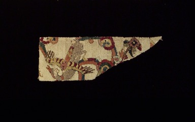 "<em>""Angel"" Carpet Fragment</em>, early 16th century. Wool and silk pile, asymmetrical knot, Old, approx.: 13 x 6 1/2 in. (33 x 16.5 cm). Brooklyn Museum, Gift of Herbert L. Pratt in memory of his wife, Florence Gibb Pratt, 36.213d. Creative Commons-BY (Photo: Brooklyn Museum, 36.213d.jpg)"