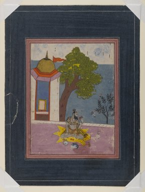 Indian. <em>Devagandhara Ragini (?)</em>, late 18th century. Opaque watercolor and gold on paper, sheet: 14 5/8 x 10 1/2 in.  (37.1 x 26.7 cm). Brooklyn Museum, Gift of Dr. Ananda K. Coomaraswamy, 36.249 (Photo: Brooklyn Museum, 36.249_IMLS_PS4.jpg)