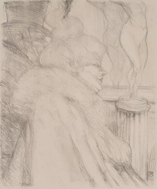 Henri de Toulouse-Lautrec (French, 1864-1901). <em>Sortie de Théatre</em>, 1896. Lithograph on wove paper, Image: 12 3/8 x 10 1/4 in. (31.5 x 26 cm). Brooklyn Museum, Charles Stewart Smith Memorial Fund and Frank L. Babbott Fund, 36.257 (Photo: Brooklyn Museum, 36.257.jpg)