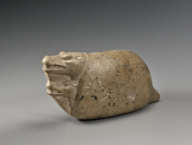 <em>Mating Hippopotami</em>, 664-30 B.C.E. Limestone, 5 1/2 x 3 3/4 x 11 1/2 in. (14 x 9.5 x 29.2 cm). Brooklyn Museum, Charles Edwin Wilbour Fund, 36.262. Creative Commons-BY (Photo: Brooklyn Museum (Gavin Ashworth,er), 36.262_Gavin_Ashworth_photograph.jpg)