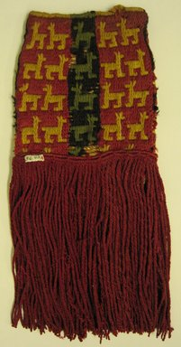 Inca/Moquegua. <em>Bag, Tassel, Fragment</em>, 1400-1532. Cotton, camelid fiber, 7 1/2 x 14 9/16 in. (19.1 x 37 cm). Brooklyn Museum, Gift of Mrs. Eugene Schaefer, 36.401. Creative Commons-BY (Photo: Brooklyn Museum, 36.401_view1.jpg)