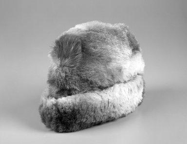 Inupiaq. <em>Winter Cap</em>, 1900-1930. Fur, 13 x 9 x 5 in. or (23.0 x 33.0 cm). Brooklyn Museum, Frank L. Babbott Fund, 36.47. Creative Commons-BY (Photo: Brooklyn Museum, 36.47_bw.jpg)
