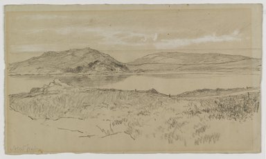 Homer Dodge Martin (American, 1836-1897). <em>Newport</em>, 1881. Black and white Conté crayon on moderately thick, slightlyk textured, green-grey wove paper, Sheet: 6 1/4 x 10 5/8 in. (15.9 x 27 cm). Brooklyn Museum, Gift of Mrs. William A. Putnam, 36.487 (Photo: Brooklyn Museum, 36.487_PS1.jpg)