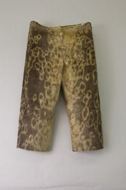 Inupiaq Eskimo. <em>Trousers</em>, 1900-1930. Sealskin, buttons, inseam: 33 1/2. Brooklyn Museum, Frank L. Babbott Fund, 36.48. Creative Commons-BY (Photo: Brooklyn Museum, 36.48_front_PS5.jpg)
