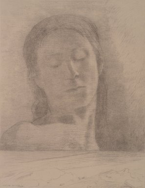 Odilon Redon (French, 1840-1916). <em>Closed Eyes (Yeux Clos)</em>, 1890. Lithograph on China paper laid down, 22 x 16 in. (55.9 x 40.6 cm). Brooklyn Museum, Brooklyn Museum Collection, 36.490 (Photo: Brooklyn Museum, 36.490.jpg)