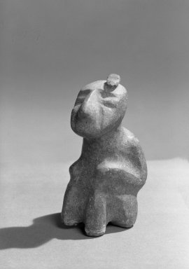 <em>Seated Figure</em>. Stone Brooklyn Museum, Carll H. de Silver Fund, 36.609. Creative Commons-BY (Photo: Brooklyn Museum, 36.609_acetate_bw.jpg)