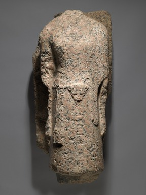 <em>High Priest of Amun, Men-kheper-re-seneb</em>, 1479-1425 B.C.E. Granite, 28 3/8 × 10 7/16 × 12 15/16 in., 153 lb. (72 × 26.5 × 32.8 cm, 69.4kg). Brooklyn Museum, Charles Edwin Wilbour Fund, 36.613. Creative Commons-BY (Photo: Brooklyn Museum, 36.613_PS6.jpg)