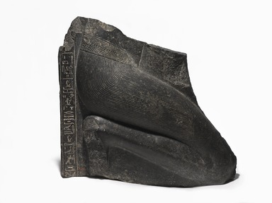 <em>Crown Prince Khaemwaset</em>, ca. 1279-1213 B.C.E. Granodiorite, 28 × 16 × 20 in., 585 lb. (71.1 × 40.6 × 50.8 cm, 265.35kg). Brooklyn Museum, Charles Edwin Wilbour Fund, 36.615. Creative Commons-BY (Photo: , 36.615_side_PS9.jpg)
