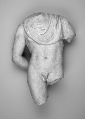 Roman. <em>Torso of a Boy</em>, ca. 100 C.E. Marble, 18 11/16 x 11 1/2 x 5 in. (47.5 x 29.2 x 12.7 cm). Brooklyn Museum, Charles Edwin Wilbour Fund, 36.618. Creative Commons-BY (Photo: Brooklyn Museum, 36.618.jpg)