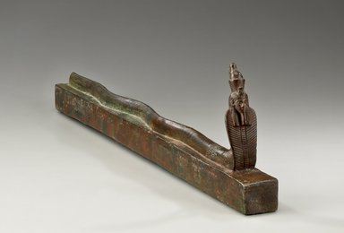 <em>Snake Coffin</em>, 664-30 B.C.E. Bronze, 5 3/4 x 1 7/8 x 22 in. (14.6 x 4.8 x 55.9 cm). Brooklyn Museum, Charles Edwin Wilbour Fund, 36.624. Creative Commons-BY (Photo: Brooklyn Museum (Gavin Ashworth,er), 36.624_Gavin_Ashworth_photograph.jpg)