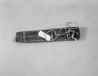 Native Alaskan. <em>Model of Toboggan</em>, 1900-1930. Whale bone, hide, wood, 9 3/4 x 2 x 1 in. or (24.7 x 5.2 cm). Brooklyn Museum, Gift of Frank K. Fairchild, 36.72. Creative Commons-BY (Photo: Brooklyn Museum, 36.72_bw.jpg)