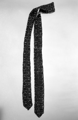 <em>Cotton Strip for Belt</em>. Cotton, wool, 2 1/4 × 58 in. (5.7 × 147.3 cm). Brooklyn Museum, Frank L. Babbott Fund, 36.765. Creative Commons-BY (Photo: Brooklyn Museum, 36.765_bw.jpg)