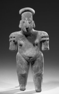 Colima. <em>Figure of a Woman</em>, 400 B.C.E.-300 C.E. Clay Brooklyn Museum, Frank L. Babbott Fund, 36.861. Creative Commons-BY (Photo: Brooklyn Museum, 36.861_acetate_bw.jpg)