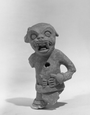 Aztec. <em>Figurine</em>. Clay Brooklyn Museum, Frank L. Babbott Fund, 36.904. Creative Commons-BY (Photo: Brooklyn Museum, 36.904_acetate_bw.jpg)