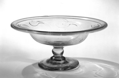 American. <em>Compote</em>, 19th century. Glass, 4 5/16 x 9 7/16 in. (11 x 24 cm). Brooklyn Museum, Dick S. Ramsay Fund, 36.951. Creative Commons-BY (Photo: Brooklyn Museum, 36.951_bw.jpg)