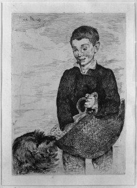 Édouard Manet (French, 1832-1883). <em>The Urchin (Le Gamin)</em>, 1862. Etching on China paper, 8 1/16 x 5 11/16 in. (20.5 x 14.5 cm). Brooklyn Museum, Museum Collection Fund, 36.956 (Photo: Brooklyn Museum, 36.956_acetate_bw.jpg)