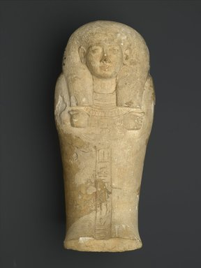 <em>Shabti Coffin of Iuy</em>, ca. 1539-1400 B.C.E. Limestone, Dimensions of Closed Coffin: 7 x 7 x 15 1/4 in. (17.8 x 17.8 x 38.7 cm). Brooklyn Museum, Charles Edwin Wilbour Fund, 37.128E. Creative Commons-BY (Photo: Brooklyn Museum, 37.128E_closed_PS2.jpg)