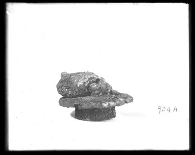 <em>Rodent Animal</em>. Bronze, 1 1/4 x Diam. 1 7/8 in. (3.1 x 4.7 cm). Brooklyn Museum, Charles Edwin Wilbour Fund, 37.1341E. Creative Commons-BY (Photo: Brooklyn Museum, 37.1341E_NegA_SL4.jpg)