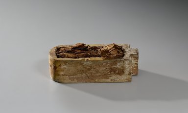 <em>Animal Coffin</em>, 664-332 B.C.E. Wood, linen, resin, gold leaf, animal remains or stones, 2 3/8 x 2 3/8 x 6 1/2 in. (6 x 6 x 16.5 cm). Brooklyn Museum, Charles Edwin Wilbour Fund, 37.1361E. Creative Commons-BY (Photo: Brooklyn Museum (Gavin Ashworth,er), 37.1361E_Gavin_Ashworth_photograph.jpg)