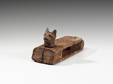 <em>Cat Coffin with Mummy</em>, 305-30 B.C.E. Wood, animal remains, linen, 3 5/8 x 3 x 6 3/4 in. (9.2 x 7.6 x 17.1 cm). Brooklyn Museum, Charles Edwin Wilbour Fund, 37.1363E. Creative Commons-BY (Photo: Brooklyn Museum (Gavin Ashworth,er), 37.1363E_Gavin_Ashworth_photograph.jpg)