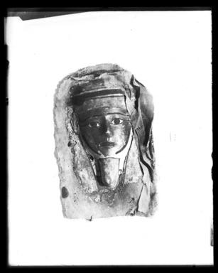 <em>Mask from a Coffin</em>, ca. 1938-1292 B.C.E. Cartonnage, 10 13/16 x 7 3/16 x 1 3/4 in. (27.5 x 18.2 x 4.5 cm). Brooklyn Museum, Charles Edwin Wilbour Fund, 37.1387E. Creative Commons-BY (Photo: Brooklyn Museum, 37.1387E_NegA_SL4.jpg)