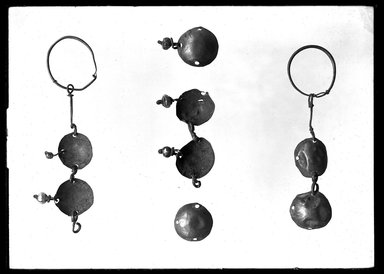 <em>Fragmentary Necklace</em>. Copper disks, imitation pearls Brooklyn Museum, Charles Edwin Wilbour Fund, 37.1468E. Creative Commons-BY (Photo: Brooklyn Museum, 37.1468E_NegA_SL4.jpg)