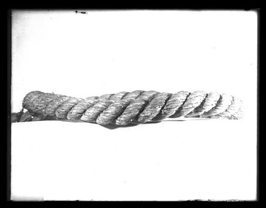 <em>Large Piece of Rope</em>, 200 B.C.-200 C.E. Hemp (?) Brooklyn Museum, Charles Edwin Wilbour Fund, 37.1477E. Creative Commons-BY (Photo: Brooklyn Museum, 37.1477E_NegA_SL4.jpg)