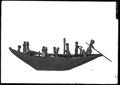 <em>Model of a Sailboat</em>, ca. 2008-1630 B.C.E. Wood, 13 × 9 1/4 × 38 3/16 in. (33 × 23.5 × 97 cm). Brooklyn Museum, Charles Edwin Wilbour Fund, 37.1483E. Creative Commons-BY (Photo: Brooklyn Museum, 37.1483E_NegA_SL4.jpg)