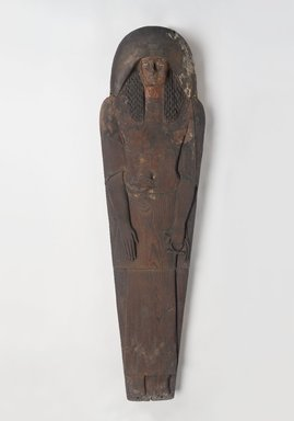 <em>Ramesside Mummy Board</em>, ca. 1295-1185 B.C.E. Wood, gesso, pigment, 73 x 19 3/4 x 5 3/8 in. (185.4 x 50.2 x 13.7 cm). Brooklyn Museum, Charles Edwin Wilbour Fund, 37.1520E. Creative Commons-BY (Photo: Brooklyn Museum, 37.1520E_PS9.jpg)
