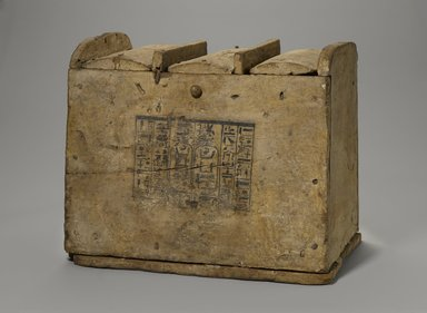 <em>Box for Shabties</em>, ca. 1075-656 B.C.E. Wood, pigment