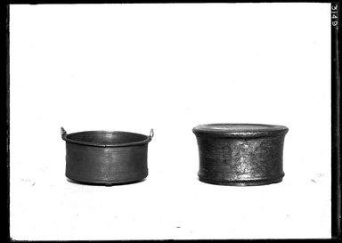<em>Small Pail or Bucket</em>. Bronze, 1 5/8 x 3 5/8 in. (4.2 x 9.2 cm). Brooklyn Museum, Charles Edwin Wilbour Fund, 37.1548E. Creative Commons-BY (Photo: , 37.1548E_37.1559E_GrpA_SL4.jpg)