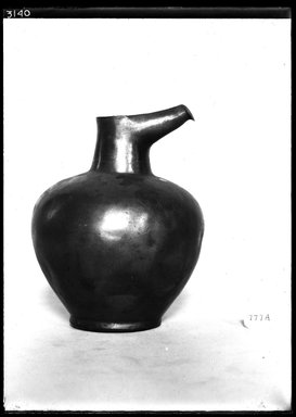 <em>Jug with Spout</em>. Bronze, 5 7/8 x 4 3/4 in. (15 x 12 cm). Brooklyn Museum, Charles Edwin Wilbour Fund, 37.1555E. Creative Commons-BY (Photo: Brooklyn Museum, 37.1555E_NegA_SL4.jpg)