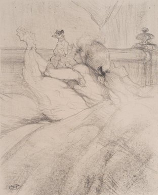 Henri de Toulouse-Lautrec (French, 1864-1901). <em>Au Lit</em>, 1898. Lithograph on wove paper, Image: 12 3/16 x 9 15/16 in. (31 x 25.3 cm). Brooklyn Museum, By exchange, 37.157 (Photo: Brooklyn Museum, 37.157.jpg)