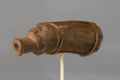 <em>Lion-Shaped Spout from a Vessel</em>, 664-30 B.C.E. Horn, 1 1/2 x 3 7/8 in. (3.8 x 9.9 cm). Brooklyn Museum, Charles Edwin Wilbour Fund, 37.1625E. Creative Commons-BY (Photo: Brooklyn Museum, 37.1625E_PS11.jpg)