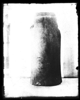 <em>Vessel</em>, 664-332 B.C.E. Clay, 6 11/16 × Diam. 3 3/4 in. (17 × 9.5 cm). Brooklyn Museum, Charles Edwin Wilbour Fund, 37.1705E. Creative Commons-BY (Photo: Brooklyn Museum, 37.1705E_NegB_SL4.jpg)