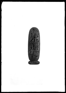 <em>Stamp</em>, ca.1539-1075 B.C.E. Wood, 1/2 x 7/8 x 2 13/16 in. (1.2 x 2.3 x 7.1 cm). Brooklyn Museum, Charles Edwin Wilbour Fund, 37.1720E. Creative Commons-BY (Photo: Brooklyn Museum, 37.1720E_NegA_SL4.jpg)