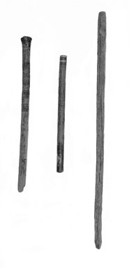 <em>Upper Part of Walking Stick</em>, ca. 1539-1075 B.C.E. Wood, Greatest diam. 13/16 x 27 3/16 in. (2 x 69 cm). Brooklyn Museum, Charles Edwin Wilbour Fund, 37.1833E. Creative Commons-BY (Photo: , 37.1833E_37.277E_37.278E_glass_bw_SL1.jpg)