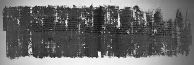<em>Papyrus Inscribed in Demotic</em>, 201-200 B.C.E. Papyrus, ink, 37.1839Ea: 11 5/16 x 40 3/8 in. (28.8 x 102.5 cm). Brooklyn Museum, Charles Edwin Wilbour Fund, 37.1839Ea-b (Photo: Brooklyn Museum, 37.1839Ea_negA_bw_IMLS.jpg)